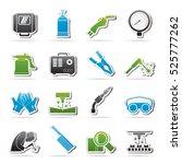welding and construction tools... | Shutterstock .eps vector #525777262
