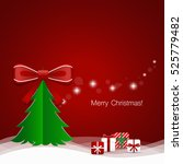 christmas greeting card with... | Shutterstock .eps vector #525779482