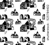 vector seamless pattern with... | Shutterstock .eps vector #525784402