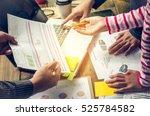 team  businessmans job ....   Shutterstock . vector #525784582