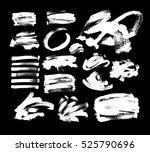 set of 20 white ink hand... | Shutterstock .eps vector #525790696