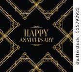 happy anniversary art deco... | Shutterstock .eps vector #525792922
