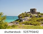 Ruins On The Beach Of Tulum In...