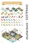 isometric world. set of... | Shutterstock .eps vector #525795442