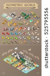isometric world. set of... | Shutterstock .eps vector #525795556