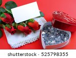 valentine's day image with red... | Shutterstock . vector #525798355