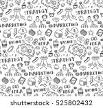 business themed doodle seamless ... | Shutterstock . vector #525802432