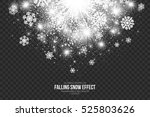 falling snow effect on... | Shutterstock .eps vector #525803626