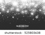 falling snow effect on... | Shutterstock .eps vector #525803638