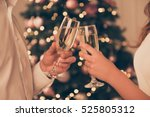 cheers close up photo of two... | Shutterstock . vector #525805312