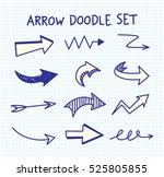 arrow doodle background | Shutterstock . vector #525805855