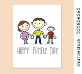 happy family day card with... | Shutterstock .eps vector #525806362