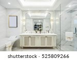 interior of modern bathroom | Shutterstock . vector #525809266