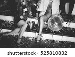 friends having fun in the disco | Shutterstock . vector #525810832
