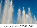 water fountain with blue sky | Shutterstock . vector #525811546