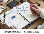 new year resolution aspirations ... | Shutterstock . vector #525813232