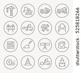 construction thin line icon set | Shutterstock .eps vector #525818266