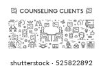line concept customer service.... | Shutterstock . vector #525822892