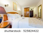 interior of a new hotel double... | Shutterstock . vector #525824422