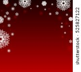 red winter card with snowflakes.... | Shutterstock .eps vector #525827122