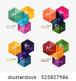 vector business geometric... | Shutterstock .eps vector #525827986