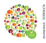 vegetables vector illustration | Shutterstock .eps vector #525836176