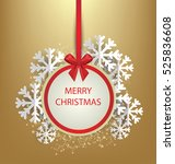 christmas greeting card. vector ... | Shutterstock .eps vector #525836608