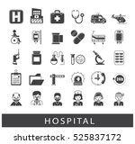 collection of medical icons.... | Shutterstock .eps vector #525837172