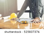 business man and construction... | Shutterstock . vector #525837376