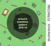 artwork seamless pattern green... | Shutterstock .eps vector #525842386