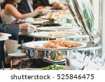 people group catering buffet... | Shutterstock . vector #525846475