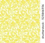 damask seamless floral pattern. ... | Shutterstock . vector #525846556