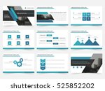 blue abstract presentation... | Shutterstock .eps vector #525852202