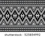 geometric ethnic pattern... | Shutterstock .eps vector #525854992