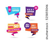 super deal tags | Shutterstock .eps vector #525855046