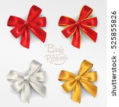 ribbon in various colours. | Shutterstock .eps vector #525855826