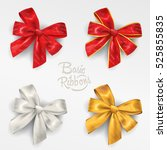 ribbon in various colours. this ... | Shutterstock .eps vector #525855835