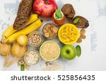 assortment of products rich of... | Shutterstock . vector #525856435