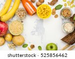 assortment of products rich of... | Shutterstock . vector #525856462