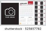 calendar 2017 template design.... | Shutterstock .eps vector #525857782