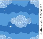 seamless pattern with clouds.... | Shutterstock .eps vector #525859192
