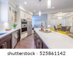 modern  bright  clean  kitchen... | Shutterstock . vector #525861142