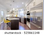 modern  bright  clean  kitchen... | Shutterstock . vector #525861148