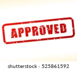 illustration of approved stamp... | Shutterstock .eps vector #525861592