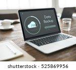 cloud storage upload interface... | Shutterstock . vector #525869956