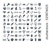 car details   garage 100... | Shutterstock .eps vector #525876025
