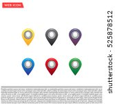 set of six round  colorful map... | Shutterstock .eps vector #525878512