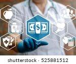 health care insurance money... | Shutterstock . vector #525881512