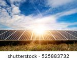 solar panel  photovoltaic ... | Shutterstock . vector #525883732