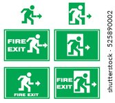 fire exit icon | Shutterstock .eps vector #525890002